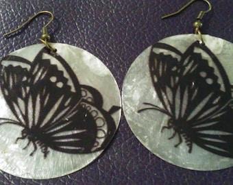 Butterfly Capiz Shell Earrings