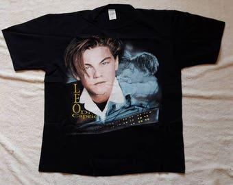 Vintage Rare 1997 Leonardo DiCaprio Tee . Vtg 90s 1990s Movie T Shirt Titanic Hollywood
