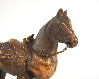 Vintage Copper Plated Horse Figurine