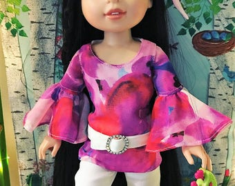 Hippy blouse PATTERN for Wellie Wisher Dolls