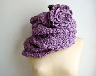 PATTERN Crochet Cowl,Infinity Scarf,Circle Scarf Crochet Pattern,Crochet Flower Pattern,Loop Scarf Crocheting Pattern,Scarf Pattern,240