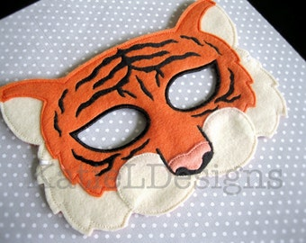 ITH Tiger Mask DIGITAL DOWNLOAD Machine Embroidery Design Pattern Download 5x7 6x10 In The Hoop Costume Halloween Quality Dress up