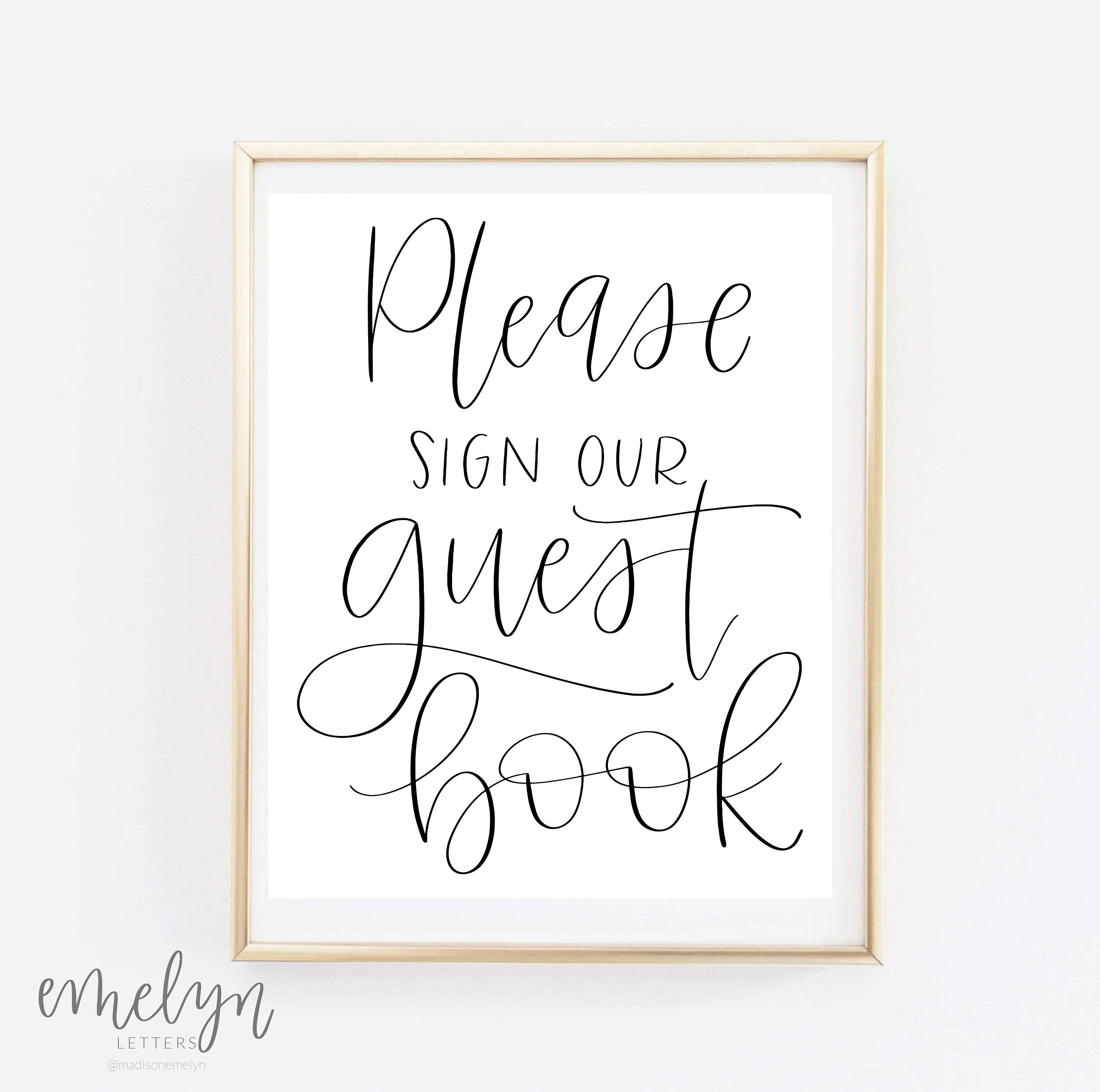 This is a photo of Delicate Please Sign Our Guestbook Free Printable