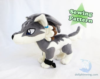 Wolf Link Plushie Sewing Pattern Add-On Embroidery Wolf Plush Pattern Pack Zelda Parts DIY PDF
