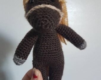 Custom Crochet Amigurumi Cuddle Me Horse Doll Plushie