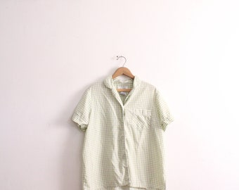 Green Gingham PJ Blouse