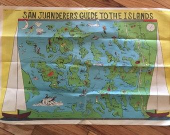 san juanderers guide to the islands 1983 drawn map of san juan islands