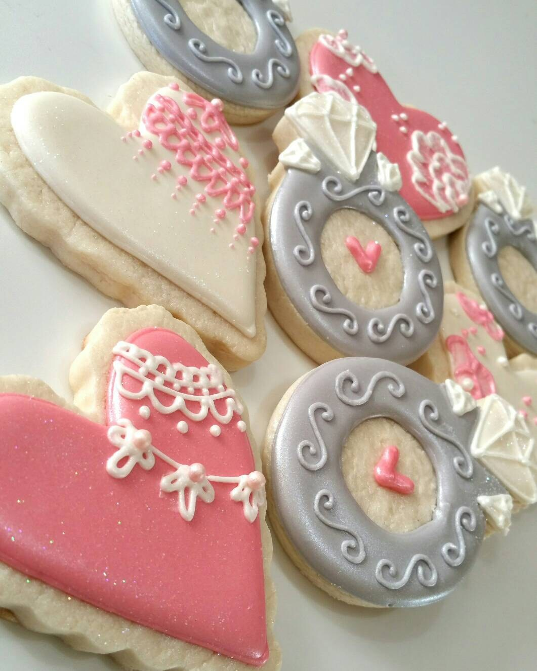 Bridal shower cookies Wedding cookies Wedding favors bridal