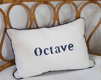 Mini name cushion