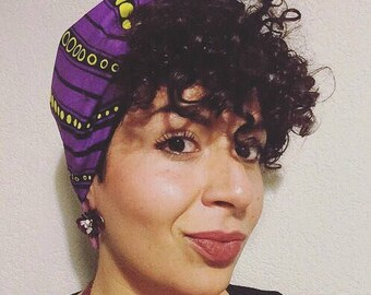 MY TRIBE headwrap 'Purple Sunshine'