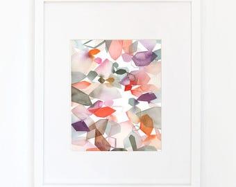 Gems in Violet - Watercolor Art Print