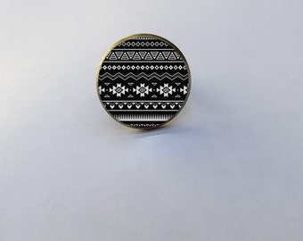 "ring tribal pattern ""Alex"""