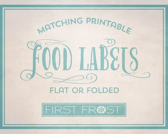Matching Printable Food Labels - Coordinates with Any First Frost Invitation