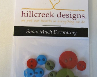 Snow Much Decorating Button Pack from Hillcreek Designs B132-QDD