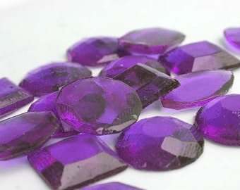 Amethyst Purple Edible Jewels - Hard Candy Gems  - 60 Candy Pack - Cake Decorations, Wedding Favors, Party Favors