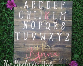 Customized Alphabet Pallet Sign