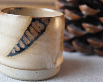 Tea, coffee mug, espresso, pottery, ceramic, stoneware.