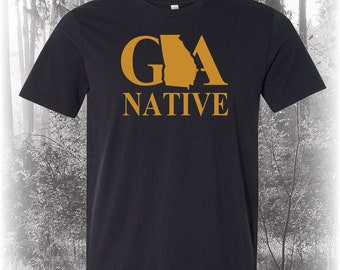 Black Georgia Native Shirt, Native Georgia Shirt,Georgia Shirt, GA Shirt, Georgia State Shirt