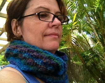 Checkerboard Cowl Knitting Pattern ** Digital Download**