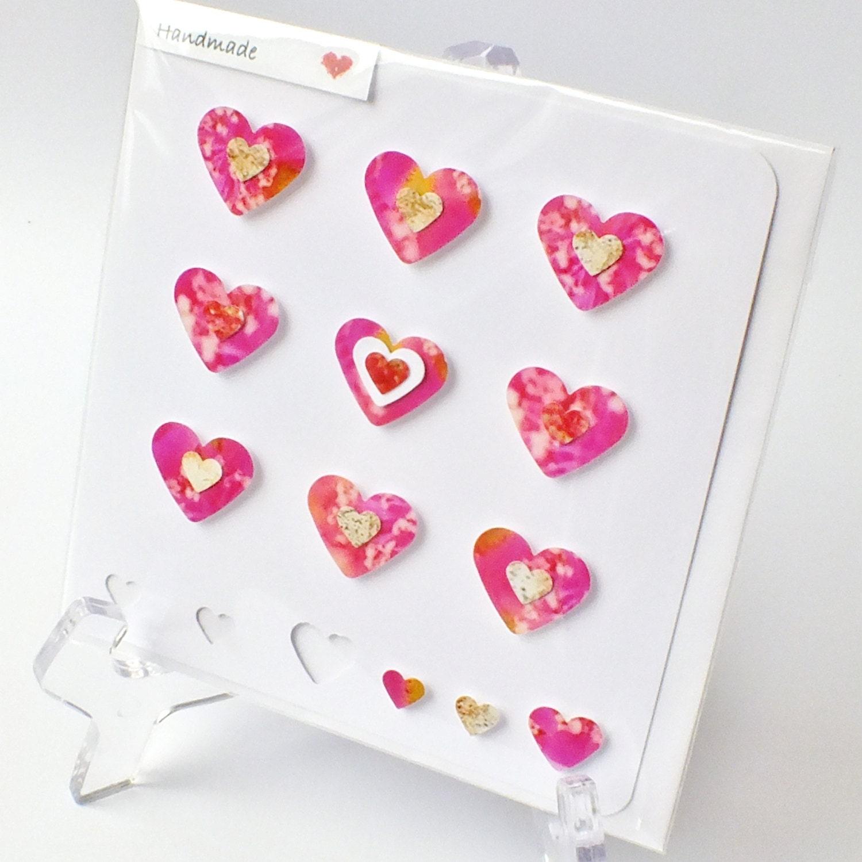Handmade 3d greetings card love heart anniversary happy zoom kristyandbryce Choice Image