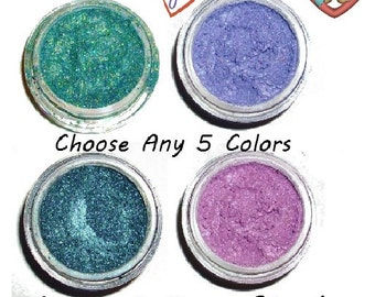 SALE Eye Shadow Organic Mineral Makeup 5 Jars Choose Your Colors