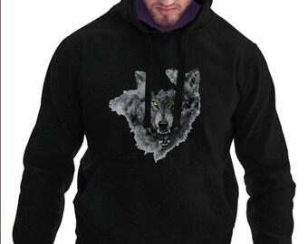 Grey Wolf Hoodie #R