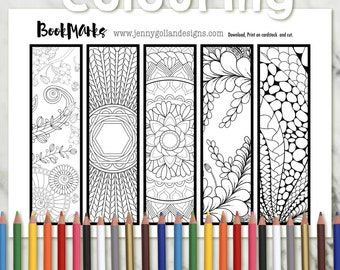 Adult Colouring Page Colouring Bookmarks 5