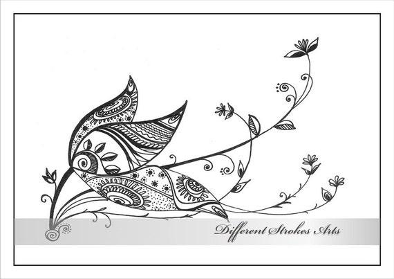 imprimibles para colorear páginas para adultos henna doodle