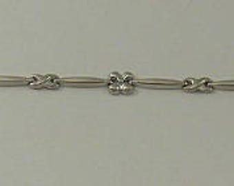 Anklet 14k White Gold 10 Inches