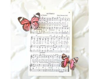 2 butterfly magnets . silk butterflies . strong magnets . realistic gifts for wedding, bridesmaids, every day use . fridge/ refrigerator