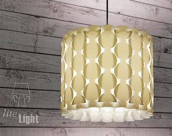 Modern lighting - Pendant lighting - Ceiling light - 60s retro lamp - Circles pattern - Classic white lamp - Pendant lamp - Ceiling lighting
