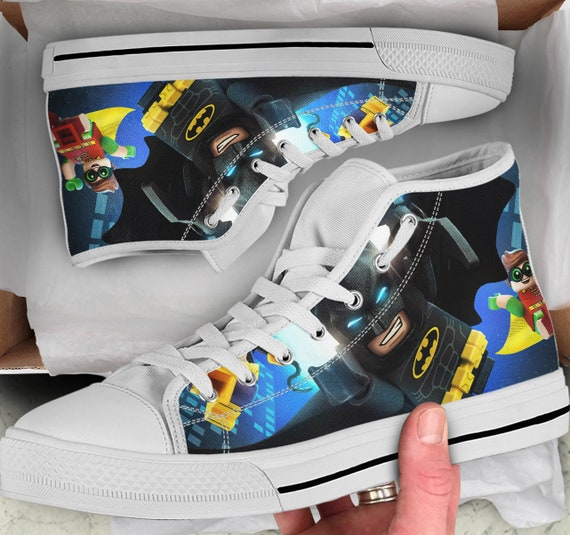 Sneakers her Shoes high Tops Shoes for Looks Men's Batman sneakers Shoes Lego Women's Tops like Gift him Colorful Converse High gqfBnFE