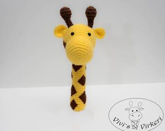 Rattle Toy, Crochet Rattle, First Baby Toy, Amigurumi , Newborn Soft Rattle Toy