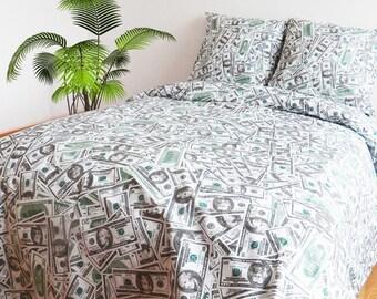 Dollars Money Twin bedding set - Full\Queen bedding set - single bedding set - custom bedding set - duvet cover set