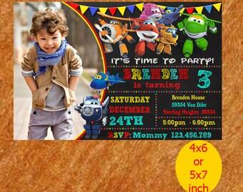 Super Wings Invitation, Super Wings Birthday Invitation, Super Wings Birthday, Super Wings Invite, Super Wings Party, Super Wings Printable