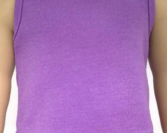 18 inch Doll Clothes  Tank Top- Purple Made to Fit Like American Girl free Shipping