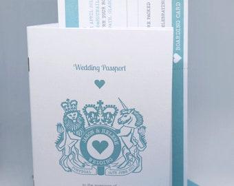 Wedding Passport & Boarding Pass Invitation