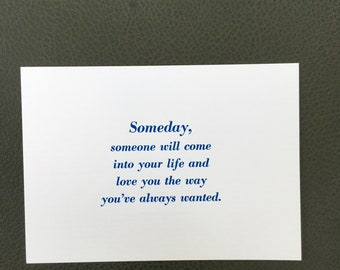 Someday Love Letterpress Print