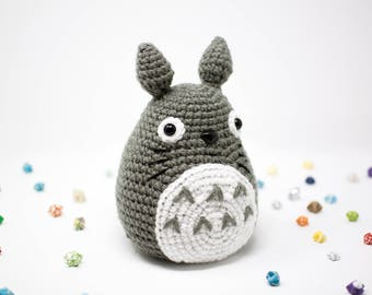 Totoro / Studio Ghibli / Crochet / Amigurumi / Plushie / Large / Doll / READY TO SHIP