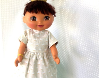 Handmade dolls clothes, doll outfit, reversible, 2 outfits in one. To fit 15 to 18 inch dolls,  cloth dolls and my own handmade  rag dolls.