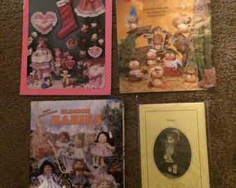 4 soft sculpture dolls pattern booklets