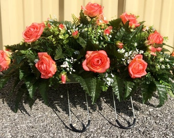 Cemetery Flowers Headstone Saddle Grave Decoration Headstone Flowers Cemetery Saddle Grave Flowers Cemetery Arrangement Memorial Flowers