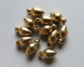 200pcs Solid Raw Brass Bullet 8.5mm x 4.5mm - F156