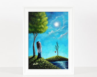The Night She Heard Love - Fairy Art Prints - Miniature Prints - Home Decor Ideas - Wall Art - Colorful Art - Colorful Prints - Whimsical