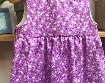 Lavender Purple Scottie Dogs Sleeveless Empire Waist Dress