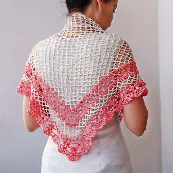 Crochet Pattern Shawl Women Triangle Shawl Crochet Lace