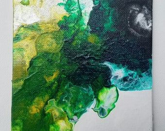 """Abstract Acrylic Painting titled- """"Iridescent Sea Foam"""""""