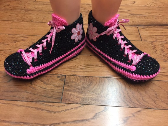 slippers crochet slippers 8 slippers Crocheted sneakers 10 Womens tennis flower shoes sneaker tennis flower pink 371 shoes house black shoes ttOBqwY