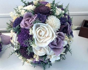 Purple green bouquet | Etsy