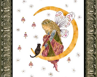 """Original Fairy Flower Art - """"Orion's Heaven"""" made with REAL Pressed Flower Petals"""